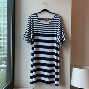 LILLY PULITZER -  NWT Navy Striped Lula Dress